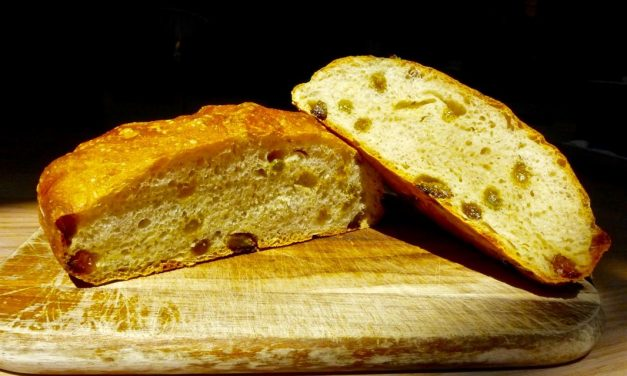 RUM SOAKED GOLDEN RAISIN BREAD