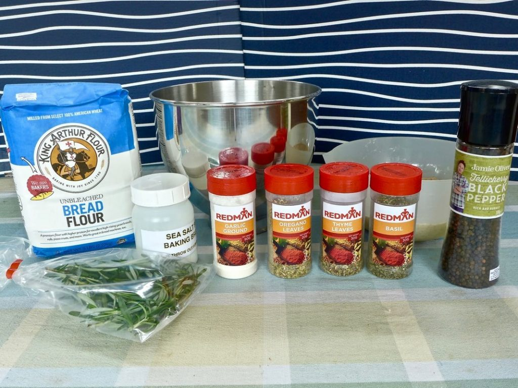Dr Doughlittle | Herb ingredients for Foccacia bread