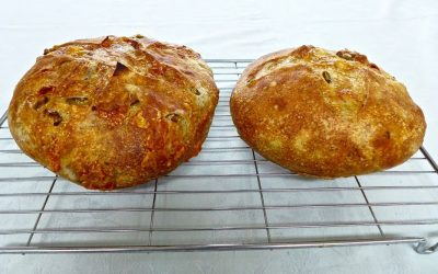 GRUYERE CHEESE, GREEN OLIVE AND FENNEL BREAD