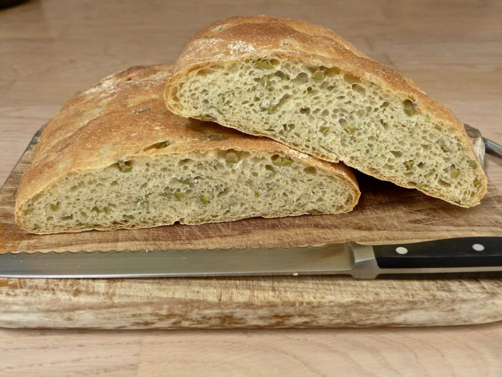 Dr Doughlittle | Green Olives and Rosemary Bread
