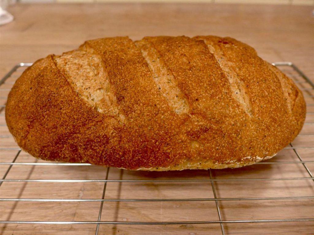 Poppy Seed with Garlic Bread
