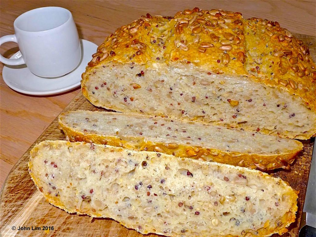 No Knead Sunflower Kernels Bread | Dr Doughlittle
