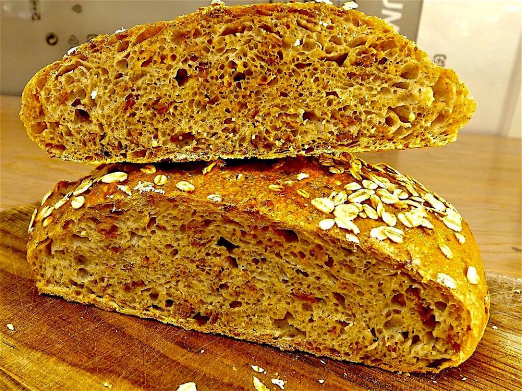 Dr Doughlittle | Rolled Oats No Knead Bread
